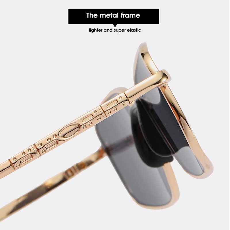 Дизайнерские Квадратные Солнцезащитные очки для женщин, зеркальные винтажные Ретро Модные солнцезащитные очки для девушек, для вождения, маленькие, черные, женские, Металлические оттенки 6621