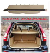 For Honda CR-V CRV 2007.2008.2009.2010.2011 Rear Trunk Security Shield Cargo Cover High Qualit Auto Accessories Black Beige(China)