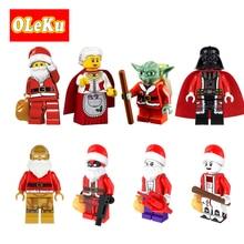 Super Heroes Figures Christmas C3PO Santa Claus Yoda Joker Deadpool Darth Vader Harley Quinn Granny Bricks