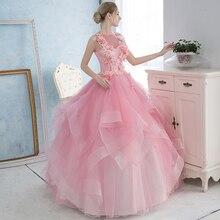 light pink ruffled flower bead ball gown princess medieval dress Renaissance Gown queen Victoria/Antoinette/ball gown/Belle Ball
