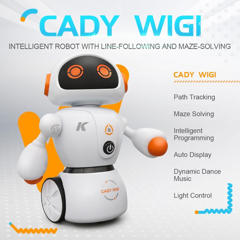 JJRC RC Robot Xmas Gift Child Toys Intelligent Program Path Tracking Maze Solving Auto Display Dynamic Dance Music Light Control