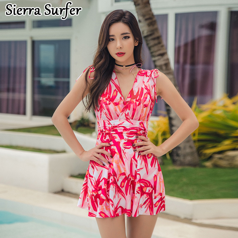 Swimwear One Piece Female Swim Suit May Beach Girls Womens Wear 2018 New Swimming Swimsuit Dress Skirt Biquini Etekli Mayo Bayan старомодная комедия 2018 05 06t18 00