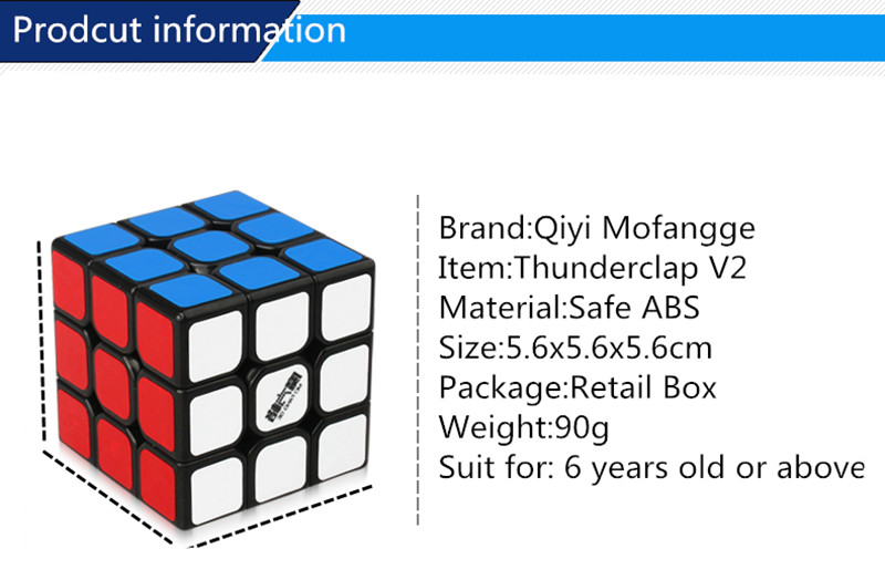 Tool Organizers Qiyi Mofangge New Thunderclap V2 3x3x3 Magic Cubethunder Clap Puzzles Cube Professional Speed Magico Cubo Traditional Cube Toys