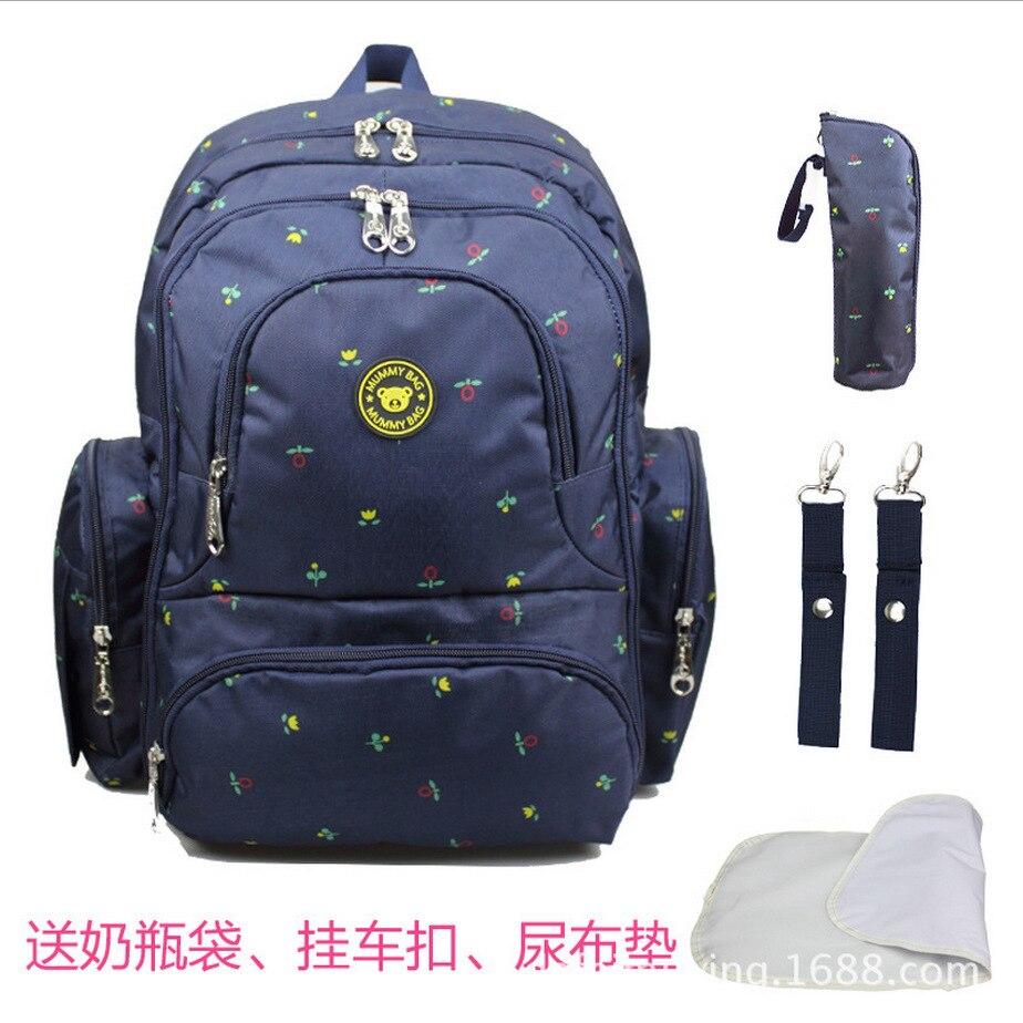 ФОТО New Fashion Shoulder Mummy Bag Multi-function Large Volume Flower Mother Bag  Dot Pattern Package Mummy Bag V-0358