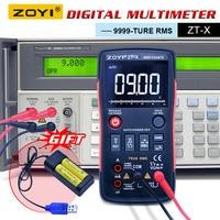 ZOYI ZT X Digital Multimeter button ac dc voltmeter ohmmet true rms multimeter auto range+2pcs Rechargeable battery +Charger