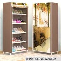 Dustproof Large Size Non Woven Fabric Shoes Rack Shoes Organizer Home Bedroom Dormitory Shoe Racks Shelf Cabinet Shoe Rack Stand