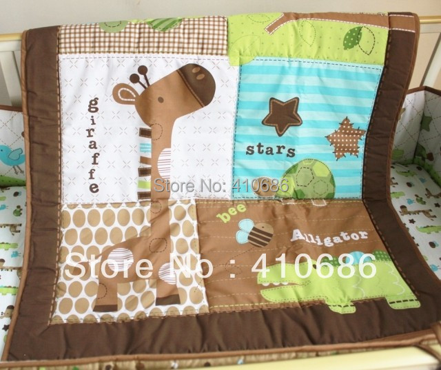 New Giraffe Animals Baby Boy Crib Cot Bedding Set 3pcs