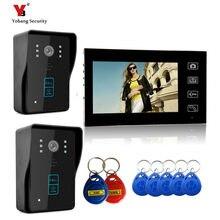Yobang Security 7″ Wireless Video Door Phone Doorbell Intercom IR Camera Monitor RFID Card Reader Access Control Home Intercom