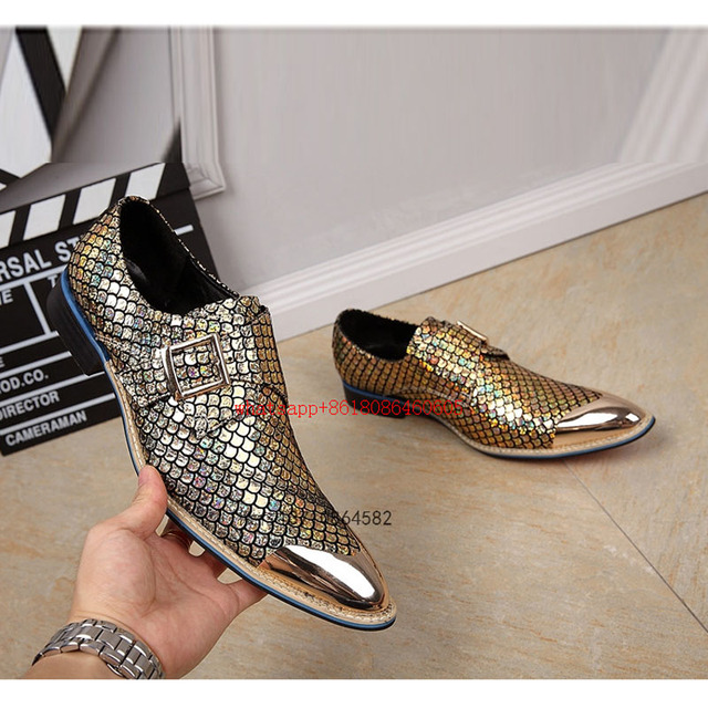 Choudory Men shoes Leather velvet slippers black sliver gold dress shoes  iron toe glitter formal loafers oxford size12 26e656c49da0