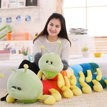 2017 New Style 80 110cm Large Size doll Cartoon caterpillar plush Toys Green caterpillar Cloth doll