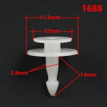1688 Car Accessory Fastener Retainer snap bottom Rivet clip for Peugeot Free Shipping free shipping 10pcs 1688 1 1