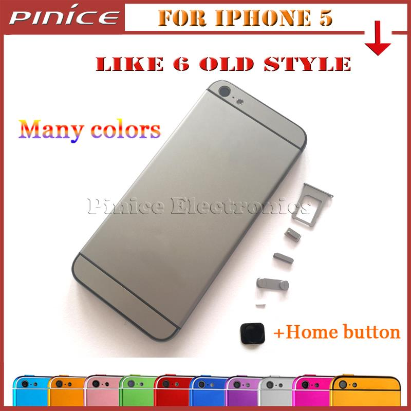 For iPhone 5 like iPhone 6 6 mini old style Back font b Housing b font