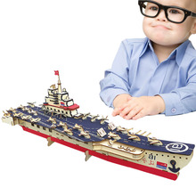 цена на Diy Wood Assembling Toys Wooden Model 3D Puzzle Educational Toys for Children Warship Model Children Adult Gifts