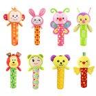 INT'G Cartoon Animal Baby Toys Music Baby Rattles Plush Stuffed Infant Toys 0 3 Months Baby Newborn Toys Juguetes Para Bebes
