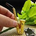 Mini Portable Metal Pipe Creative Trumpet Saxophone Weed Cigarette Holder