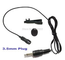 High Quality Lavalier Lapel Cardioid Uni-directional Microphone FOR PC Wireless Mic system (3.5mm mono)