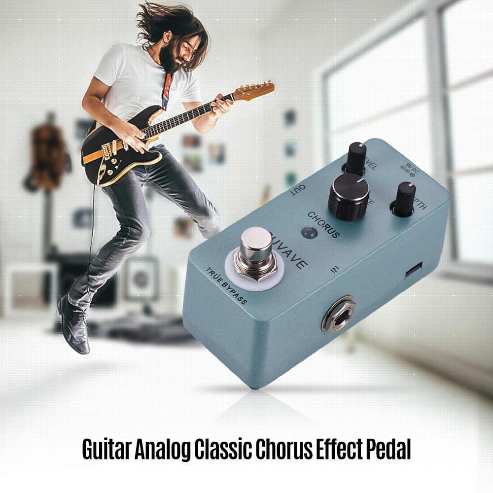 الغيتار التناظرية الكلاسيكية جوقة تأثير الدواسة الالتفافية صحيح كامل معدن قذيفة