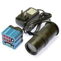 HD CCD 2mp VGA из положить привод Бесплатная электронные промышленные Камера Цифровые микроскопы окуляра с 100x объектива и Дистанционное управле