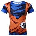 Mais novo Dragon Ball Z Goku Garoto Bonito 3D Camisetas gola Redonda Super Harajuku Camisetas de manga Curta camisetas transporte Livre
