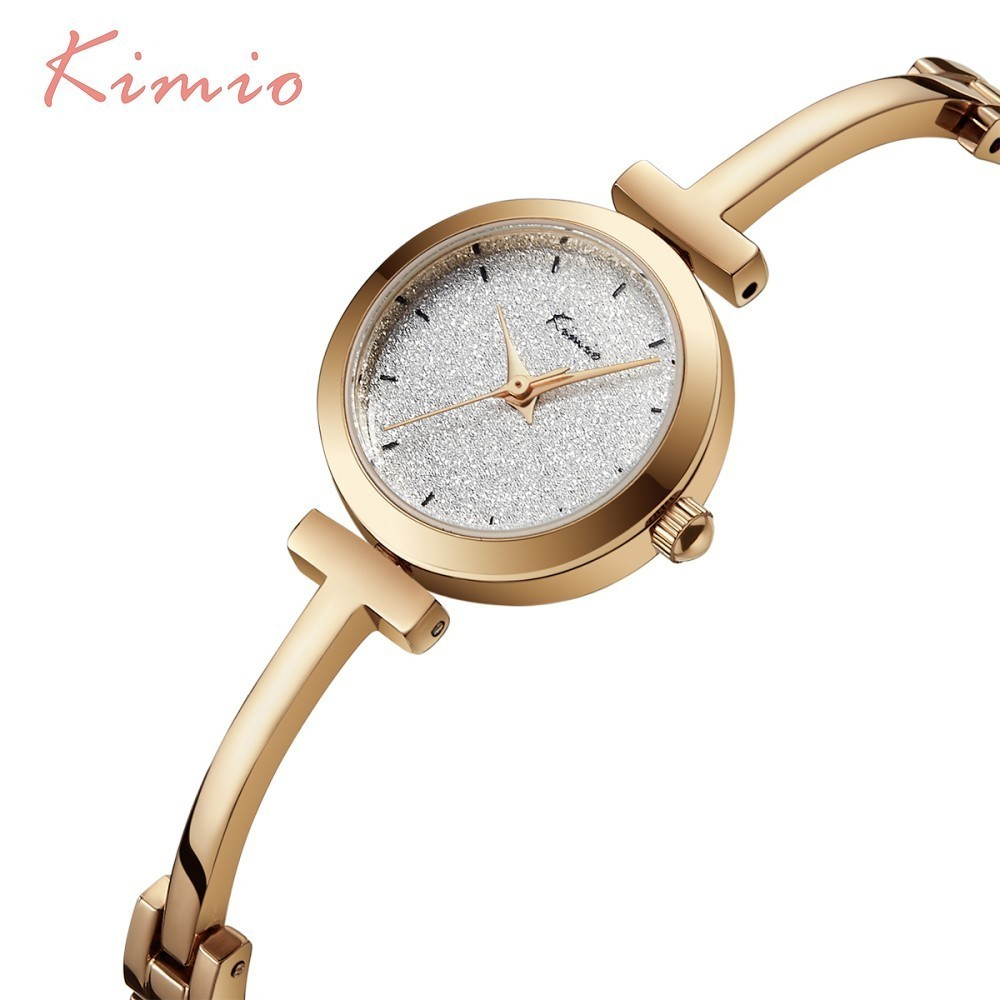 KIMIO Shine Dial Rose Gold Women Watches Armbåndsur Ladies Watches - Dameure - Foto 5