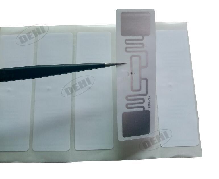 100pcs ISO 18000-6C 915MHz UHF RFID Tag AZ 9662 H3 Chip Passive RFID UHF Sticker Label Size: 73*23mm Read Range 6m-8m 1000pcs long range rfid plastic seal tag alien h3 used for waste bin management and gas jar management