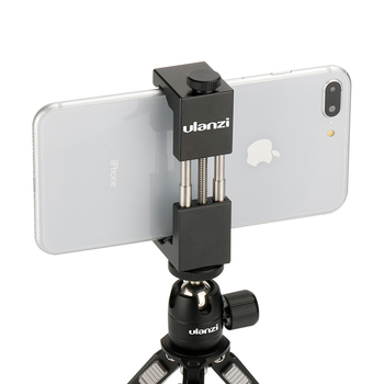 Ulanzi Universal ST-2S Vlog  Smartphone Tripod Mount  Aluminum Metal Phone Tripod Adapter Holder Stand for iPhone 11 Pro Max 1