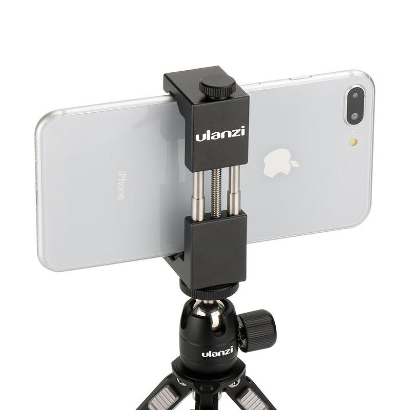 HOMEM DE FERRO Ulanzi Smartphone Tripé Universal Suporte Adaptador para Tripé Suporte Do Telefone de Metal de Alumínio para o iphone X 8 7 plus samsung