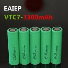 5 шт., перезаряжаемая батарея EAIEP 18650 3300 мАч US18650VTC7 18650, литий-ионный аккумулятор 3,7 В, перезаряжаемая батарея для карманного фонаря, мобильного...