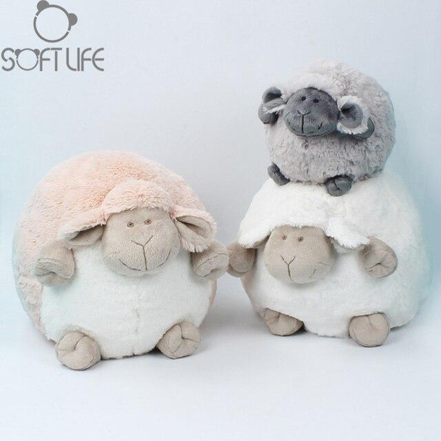 Sweet Sheep Cartoon Plush Dolls Toys Kids Stuffed Animals Spherical Mimi Sheep Sit High 25cm/15cm Soft Toys Chouchou Dolls Toys