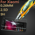 HD Clear Super 9H 2.5D Ultra-thin 0.26MM Tempered Glass For xiaomi 3 4 5 redmi note 3 4 pro Max Screen Protector Protective Film
