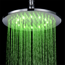 10 inch round 7 colors changing led shower head bathroom rainfall shower heads waterfall shower head