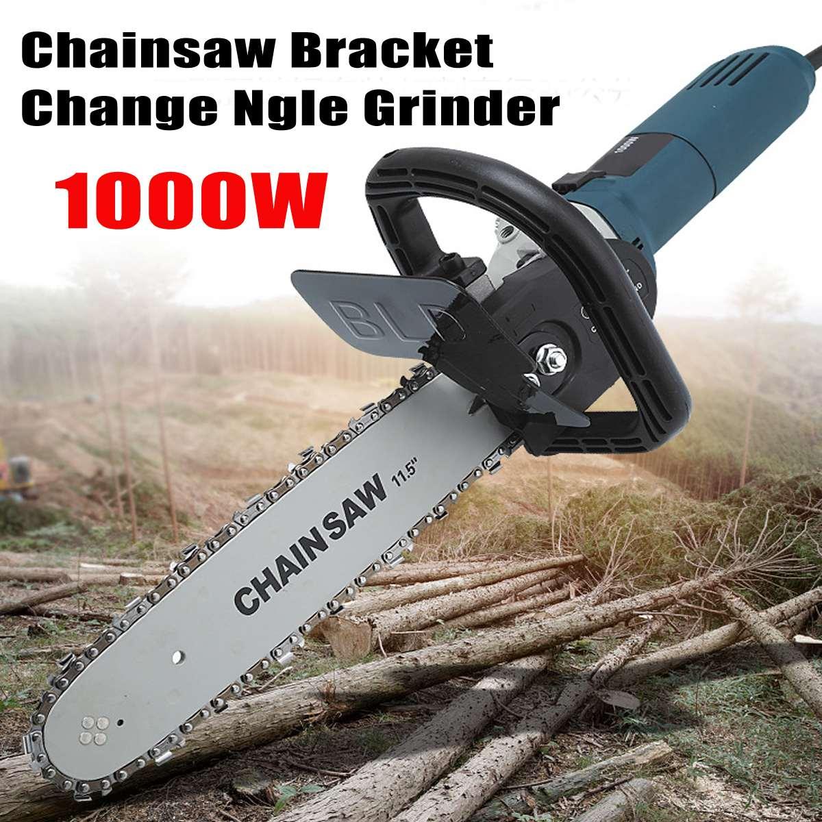 100 0 watt 1 100 0 rpm 6 Geschwindigkeit Einstellbar Elektrische 100 Winkel Grinder + M10 Kettensäge Holzbearbeitung Schneiden Kettensäge halterung Ändern Grinder