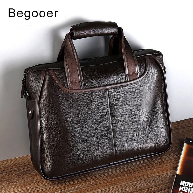 купить 2018 Real Leather Briefcases Men Vintage Laptop Messenger Bag Causal Handbag Office Bags For Men Shoulder Bag Male Briefcase по цене 3739.86 рублей