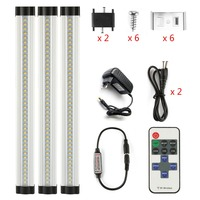 12in Long 9W Kitchen Cabinet Lights 12v Dimmable Slim Aluminum LED Tube Lamps Hard Wired Linear