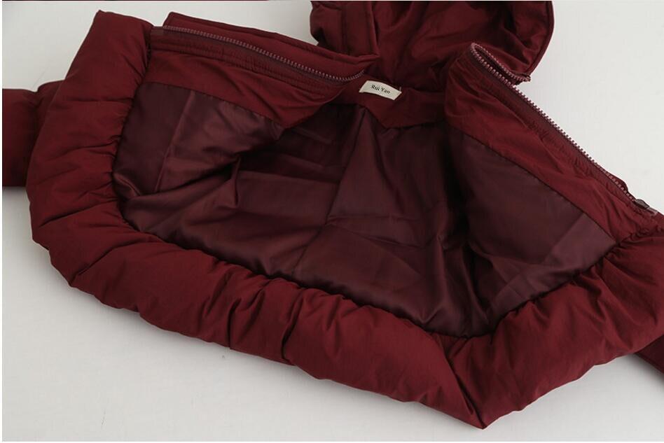 Fille printemps veste rouge à capuche enfants veste pour vêtements d'extérieur fille hiver bébé tenue parkas enfants boutiques vêtements ver - 6