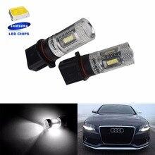 ANGRONG 2x P13W лампа SAMSUNG 15 Вт светодиодный противотуманный дневной ходовой светильник для Skoda Yeti 5L 508 для Audi A4 B8(CA219x2
