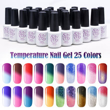 Sexy Mix  7ML Temperature Change Chameleon make up Color Changing UV Nail Gel Polish Long Lasting UV Gel Nail Varnish