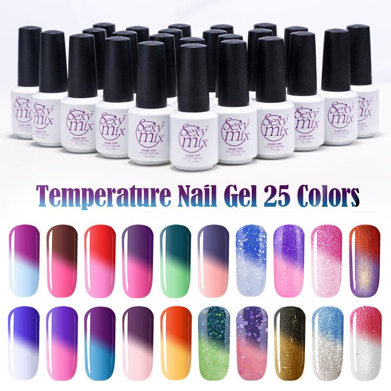Sexy Mix Mudança de Temperatura Camaleão compõem Mudança de Cor UV Unhas Polonês Gel de Longa Duração Gel UV Verniz para As Unhas MAIS NOVO Gel Prego