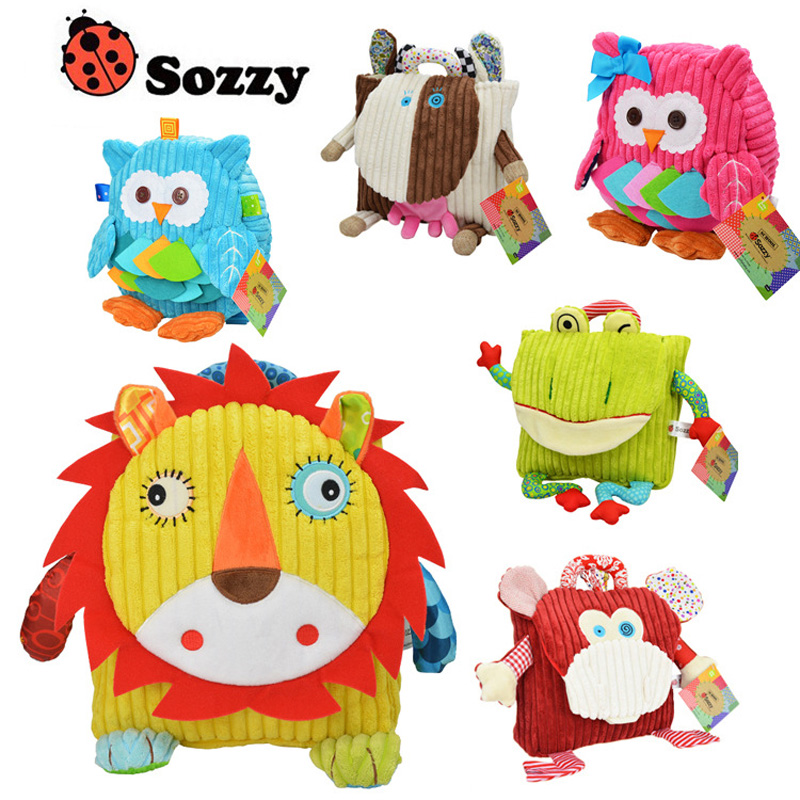 Sozzy Children Stuffed Plush Animals Backpack Back To School Kids Lovely Cartoon Animal Design Schoolbag Cute Snack Pack