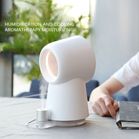Leafless Mini Fanless Mute Portable USB Small Handheld Fan Humidification Office Desktop Hand Holding USB Fan #A