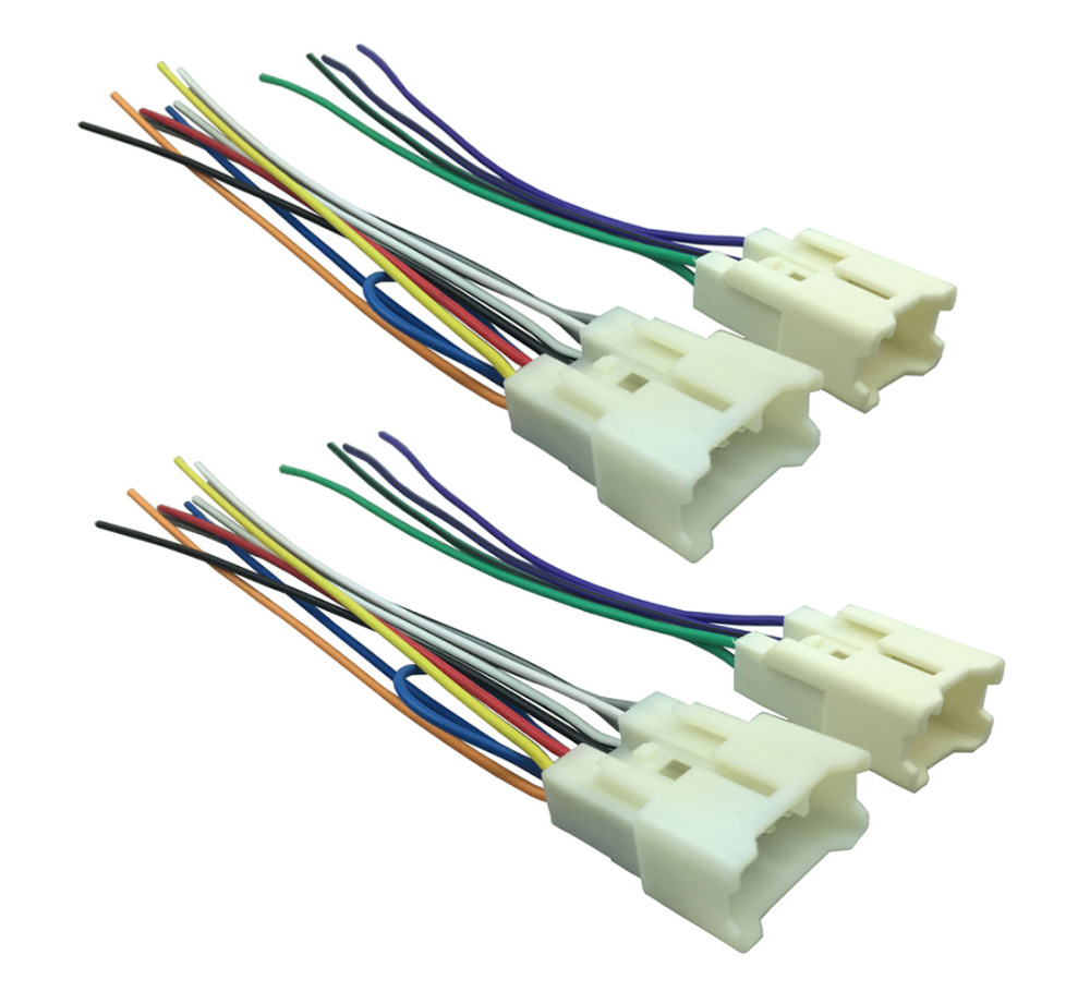 Two Wiring Harness Wire Adapter Aftermarket Radio Plugs