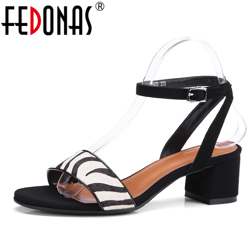 FEDONAS Summer Women Horsehair High Heels Sandals Shoes Woman Party Wedding Ladies Pumps Ankle Strap Buckle Stilettos Sexy Shoes women high heel sandals shoes classic peep toe cut out high heels ankle boots woman sexy party wedding ladies shoes stilettos