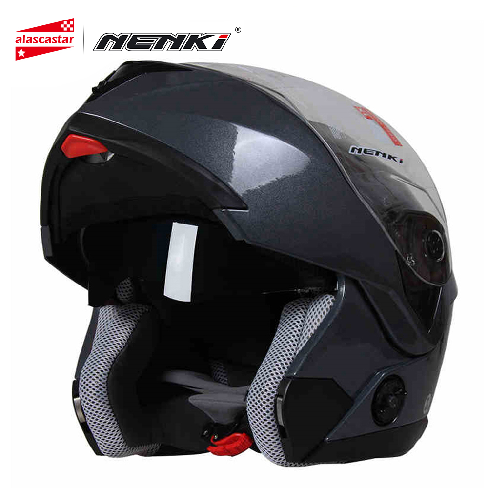 все цены на NENKI Motorcycle Helmet Women Full Face Helmet Street Bike Motor Motorbike Racing Modular Flip Up Dual Visor Sun Shield Lens 835