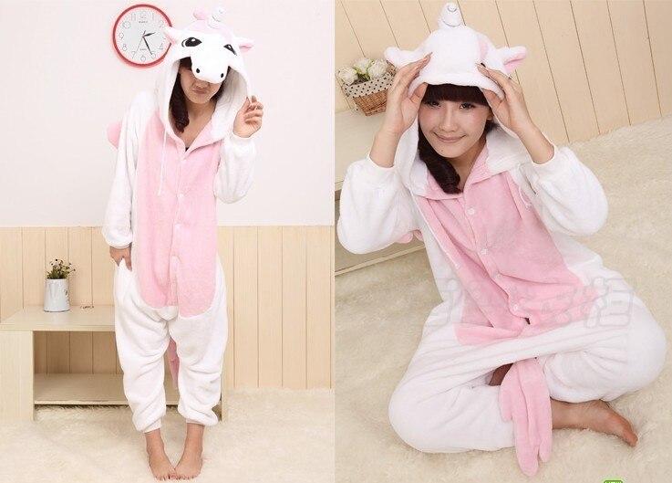 Hot livraison gratuite New unisexe femmes licorne adulte pyjamas Cosplay Costume danimal Onesie nuit
