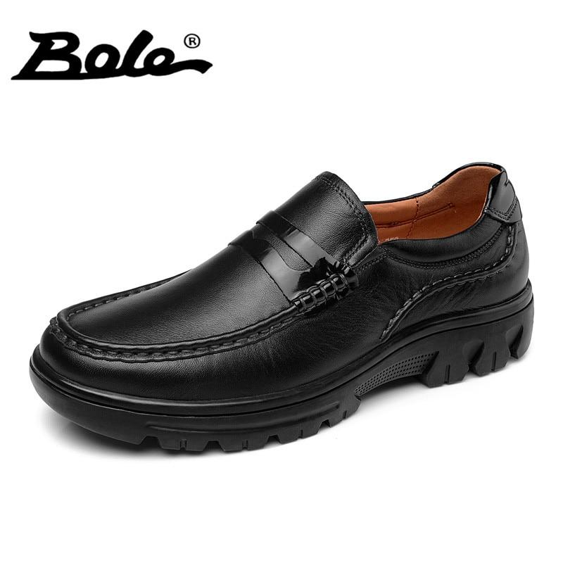 BOLE Men Leather Shoes 2017 New Spring Fashion Design slip on Men Driving Loafers Breathable Shoes Men Comfort Large Size 38-46 agsan unisex genuine leather loafers men large size 10 10 5 11 slip on business shoes spring classic driving shoes black khaki