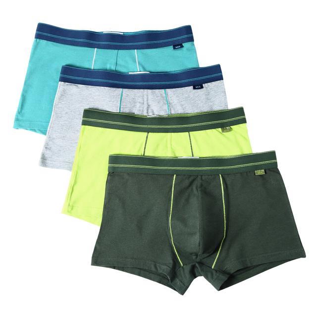 Elastic Men's Underpant, 4 Pcs Set