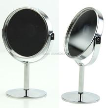 Для женщин Мини круговой макияж Косметические на 2-портный Dual двухсторонний Обычный+ увеличительное зеркало стенд# Y207E# Лидер продаж