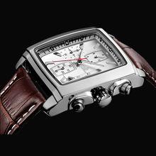 SIHAIXINFashion Men's Watches Military Quartz Wristwatches Luxury Genuine Leather Clock Square Waterproof Relogio Masculino 2028