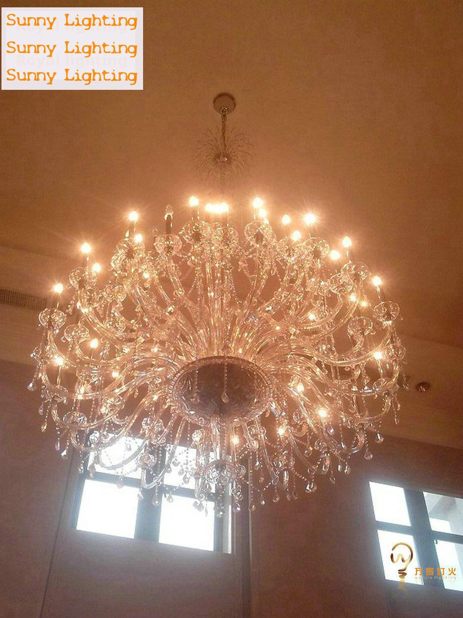 55-72 svjetla moderni LED svijećnjaci kristalne svjetiljke veliki - Unutarnja rasvjeta - Foto 4