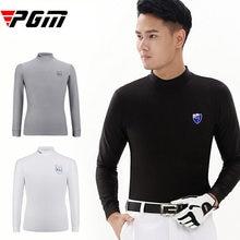 854253c8e Marca Camisas do esporte Dos Homens quentes Camisa de Golfe de Manga  comprida T-shirt Masculina Roupa Interior macio Fino Confor.